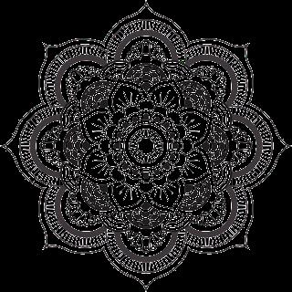 Mandala dificil de flor para colorear