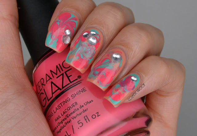 Dry Water Marble Nail Art
