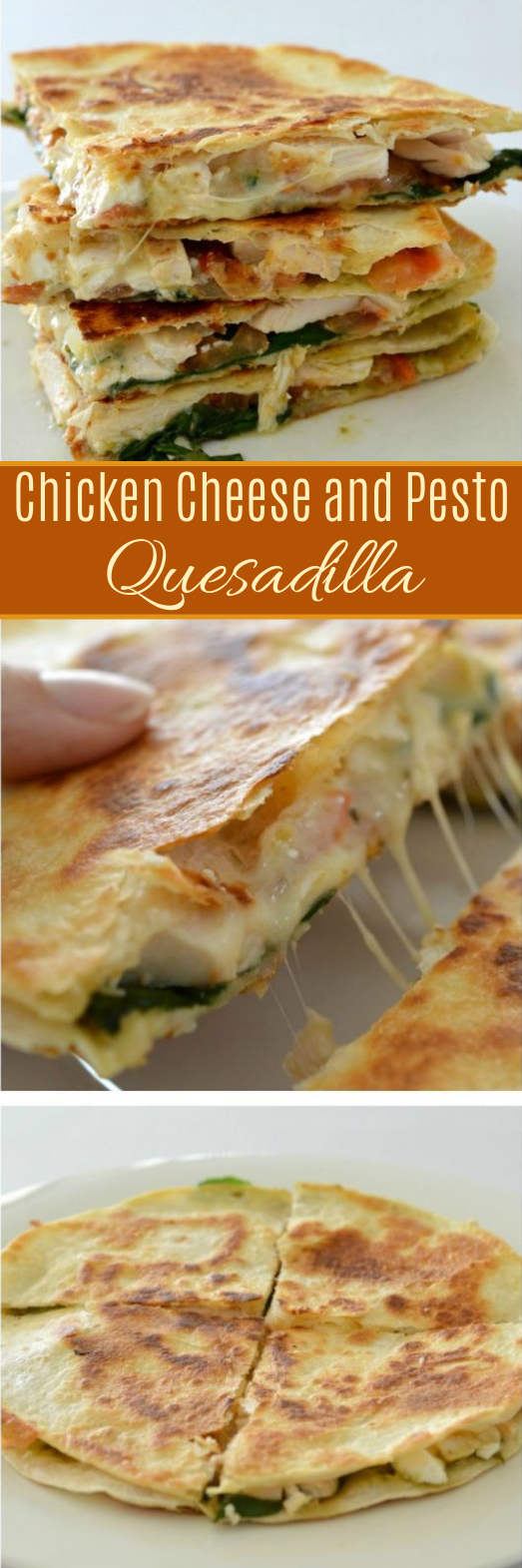 Chicken Cheese and Pesto Quesadilla #lunch #mexicanfood