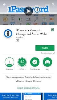 berfungsi untuk menyimpan password anda dengan aman, jika anda memiliki banyak password penting yang susah anda ingat maka apk ini adalah solusinya.