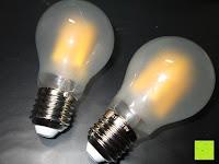 Vergleich: LED-Filament-Lampe RETROFIT CLASSIC (ersetzt 60 Watt) E27 warmweiß, Lebensdauer 30 Jahre! 6 Watt, 550 Lumen, 2 Glühfaden, MATT [Energieklasse A++]