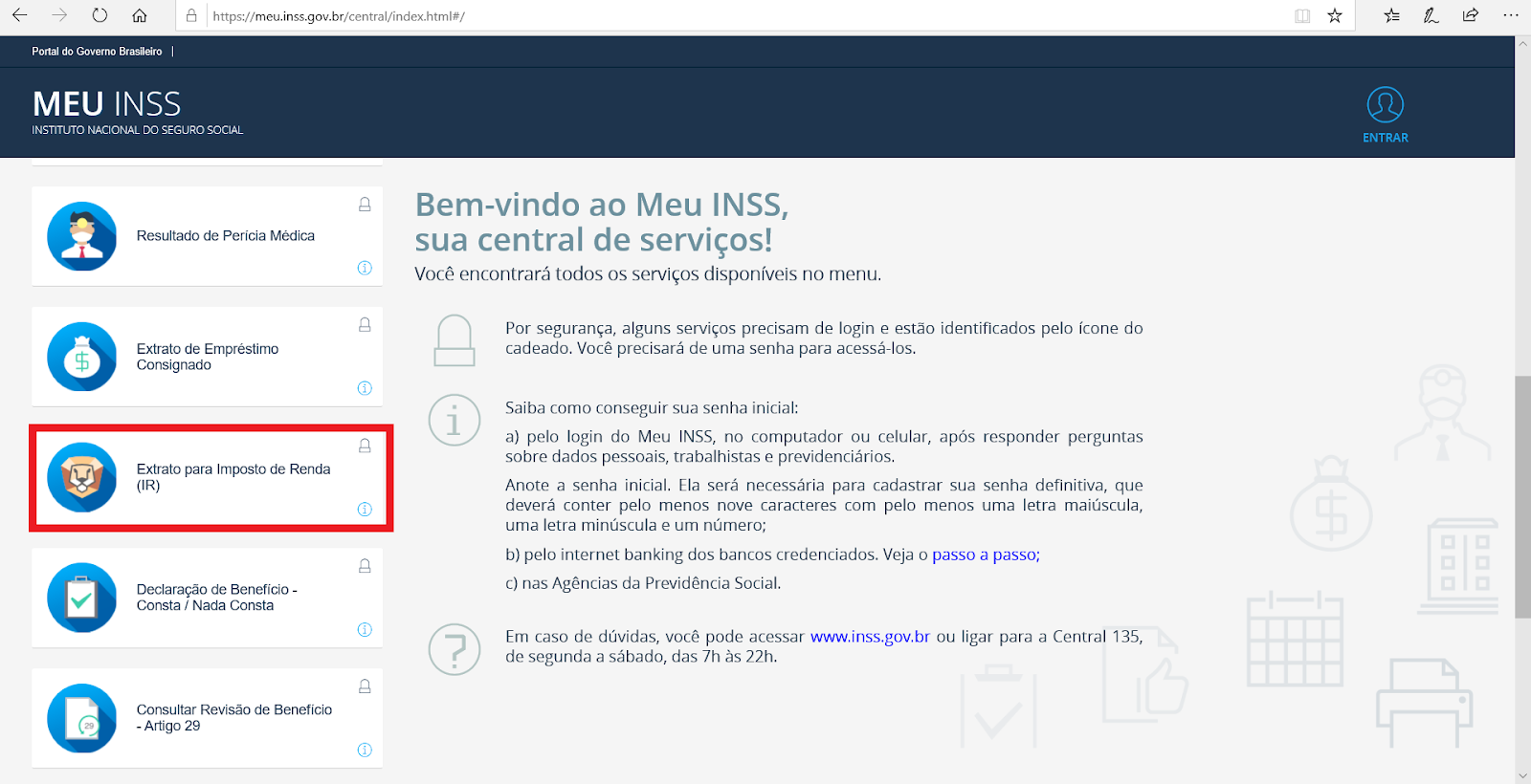 Informe de Rendimentos do INSS
