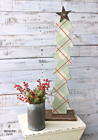Ugly Thrift Shop Tree Upcycled with Stencils