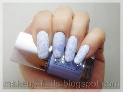 Manicura estampada uñas efecto lana (MM84XL)
