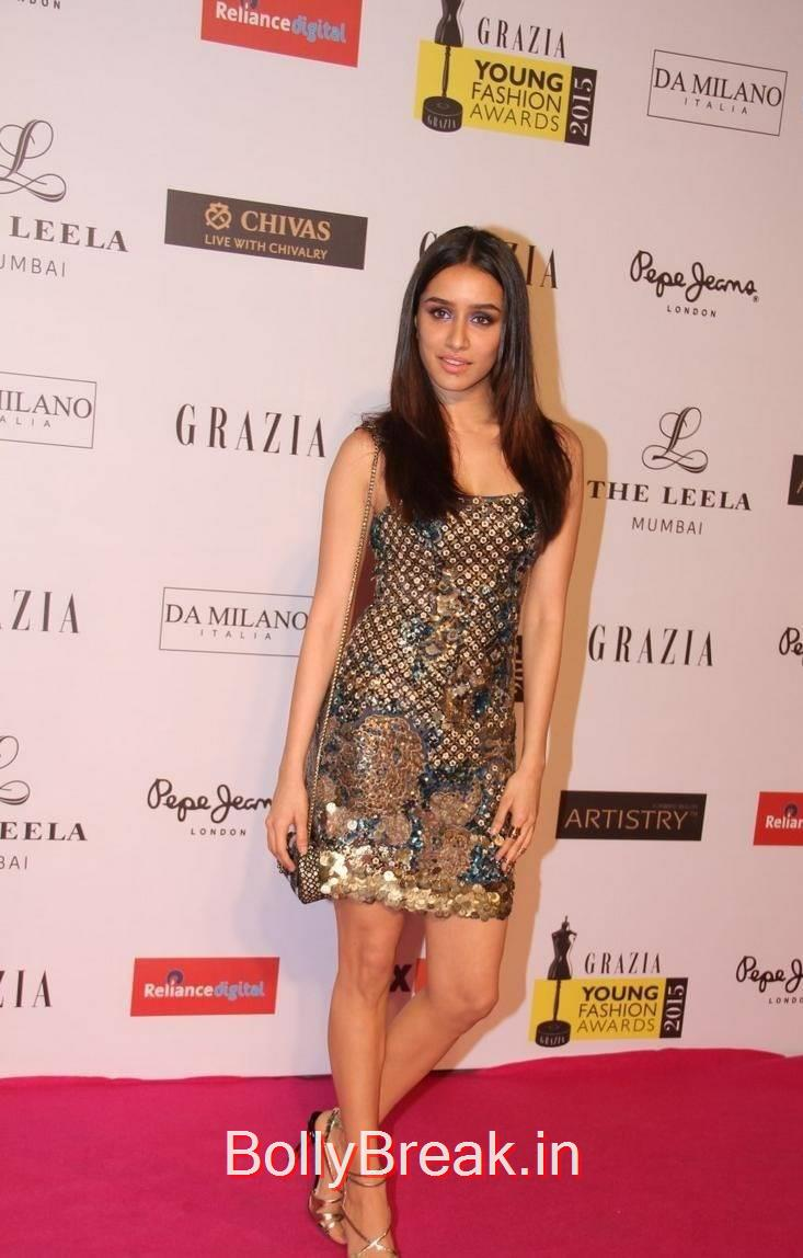 Shraddha Kapoor Hot Pics From Grazia Young Fashion Awards 2015 7 Pics