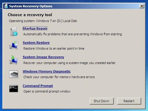 إصلاح معظم مشاكل إقلاع نظام التشغيل على الحاسوب