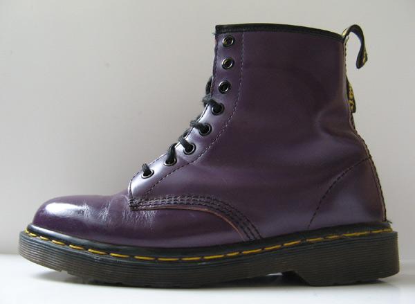 Dr Martens Doc Martens Purple Leather Boots Size 8 Size 6
