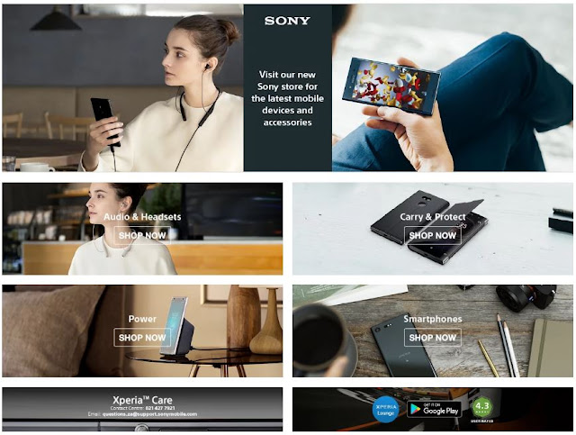 @SonyXperiaZA #Smartphones and #Accessories Available @TakeaLot Website #ItsaSony