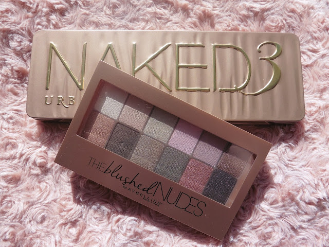 ♥ Palette The Blushed de Maybelline ♥et Naked 3 urban decay