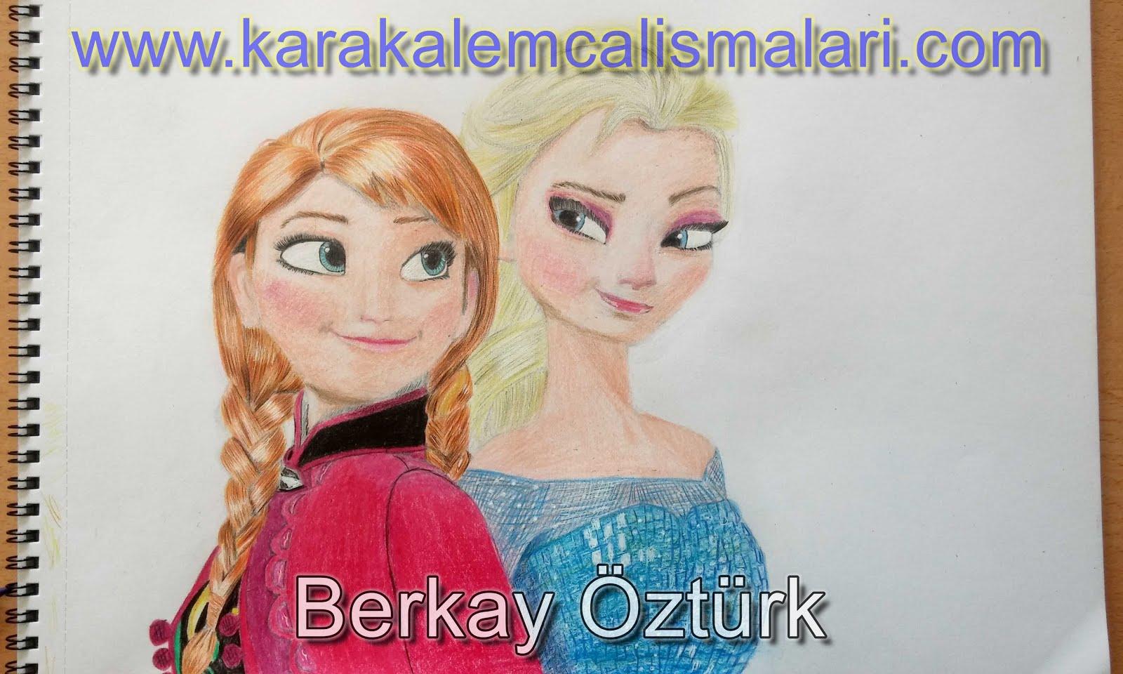 Karlar ülkesi Elsa Ve Anna Nasıl çizilir Kolay Elsa Ve Anna çizimi