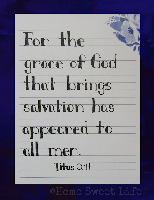 Titus 2:11, Scripture Writing