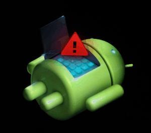 андроид аккумулятор с восклицательным знаком