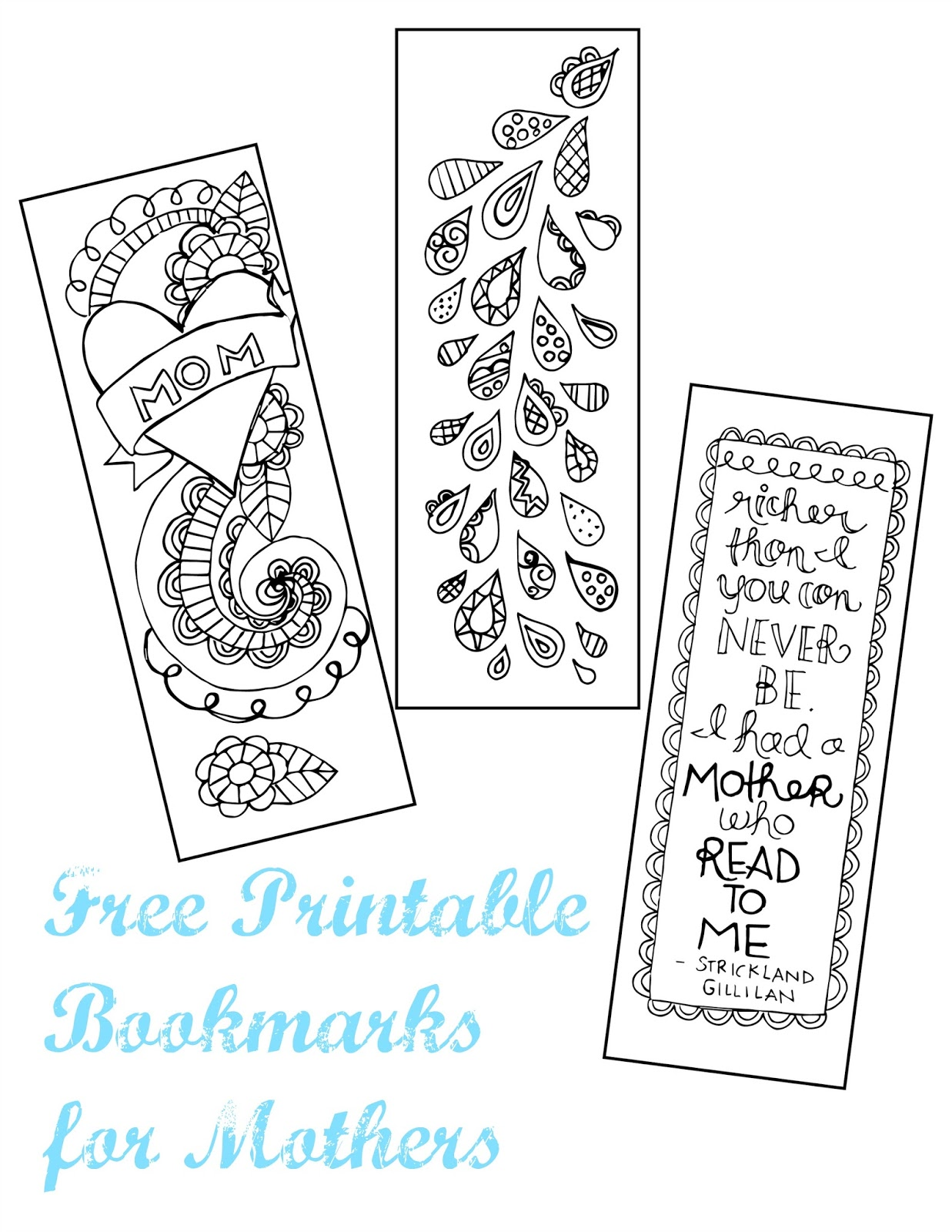 image about Mother's Day Bookmarks Printable Free called A Active Anticipate: Moms Working day Printable Bookmarks