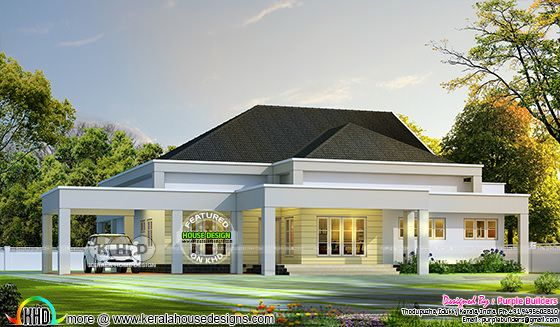 Bungalow design in Kerala