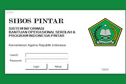 Download Aplikasi SIBOS PINTAR 2018 Madrasah Versi Terbaru Dilengkapi Dengan Cara Instal