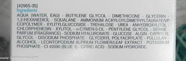 mascarilla de noche ingredientes