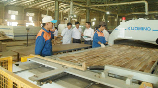 Quy trình sản xuất tấm gỗ ghép thanh công nghiệp