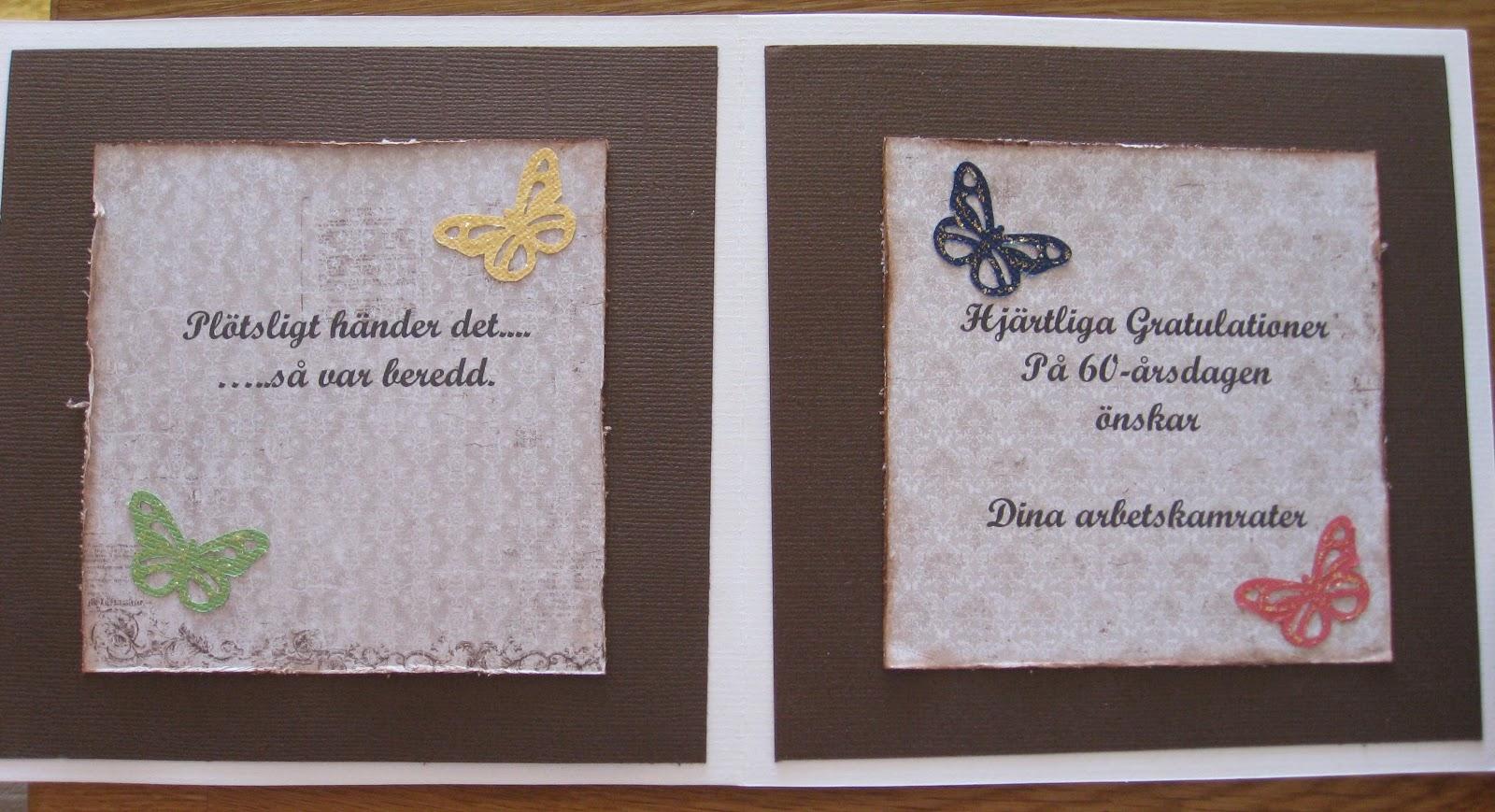 födelsedagskort 60 år Anna Karins tankar: Födelsedagskort födelsedagskort 60 år