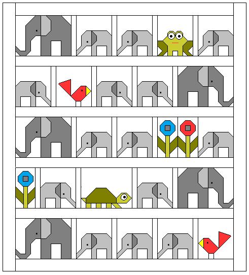 Sew Fresh Quilts: Elephant Parade : elephant quilt patterns - Adamdwight.com