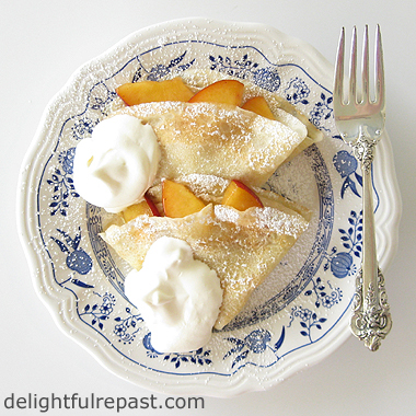 How to Make Crepes - with Peaches and Cream / www.delightfulrepast.com