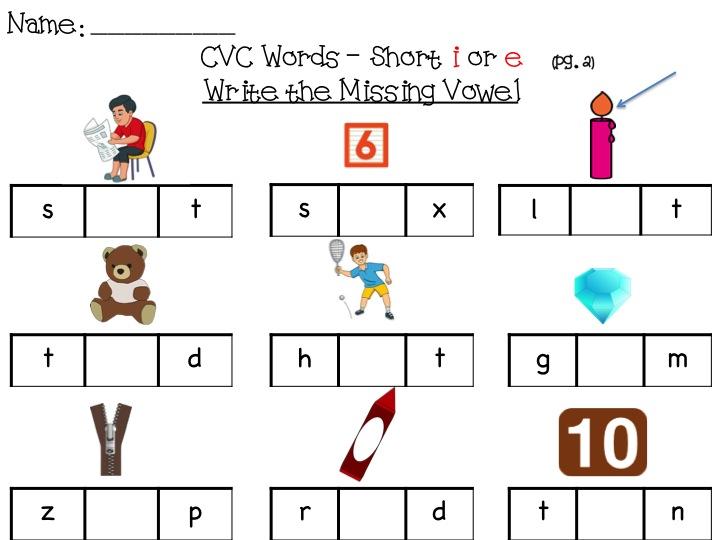 Number Names Worksheets short i sound worksheets : Free Printable Short Vowel Sounds Worksheets - short a alphabet ...