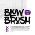 خط إنجليزي مجاني - BlowBrush free font