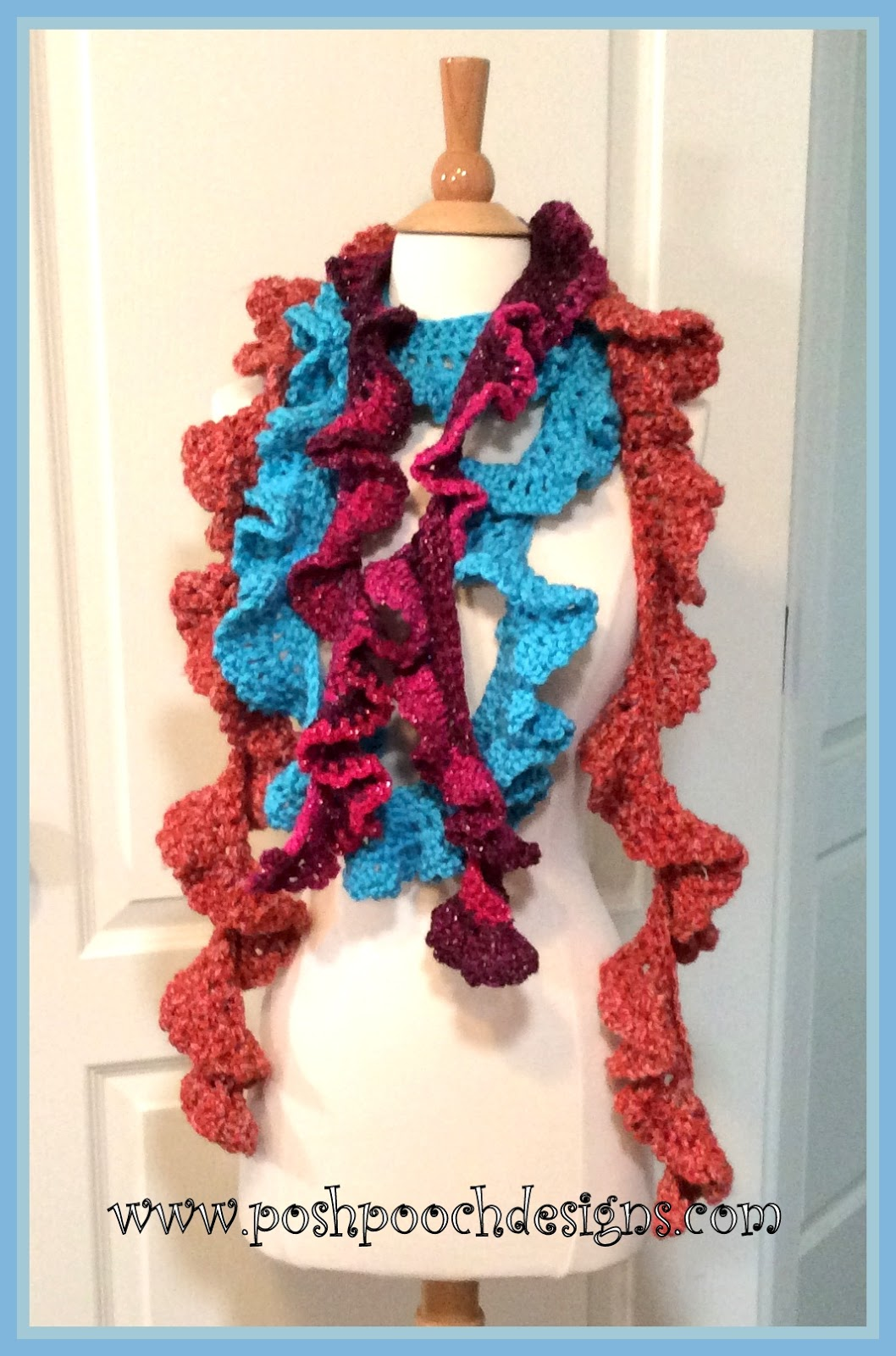 Posh Pooch Designs Dog Clothes: Chunky Ruffle Scarf Crochet Pattern