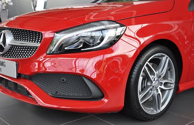 Hệ thống treo Mercedes A250 2018 được thiết kế theo dạng thể thao
