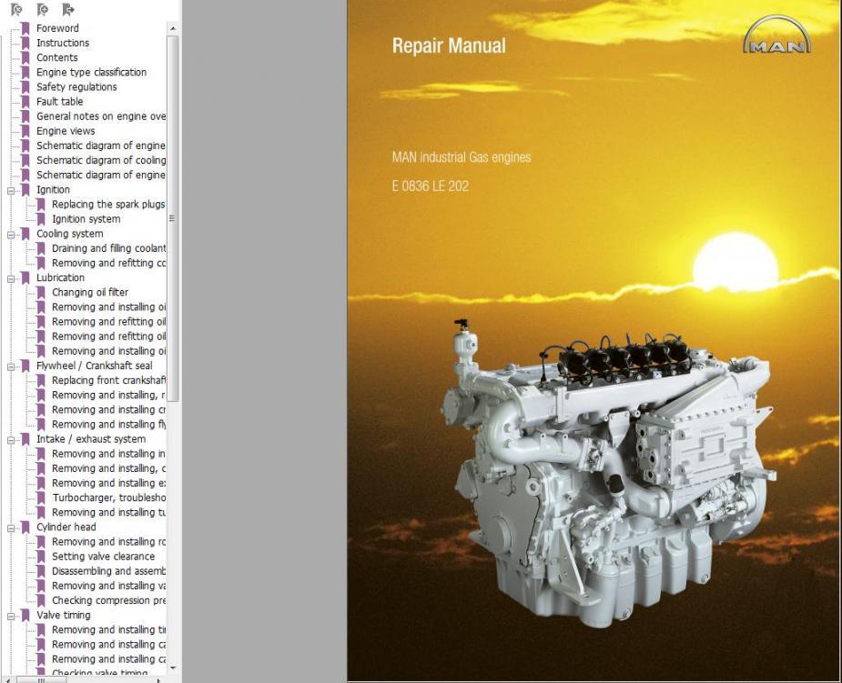 Man Ebook Soft   Repair Manual  Man Industrial Gas Engines