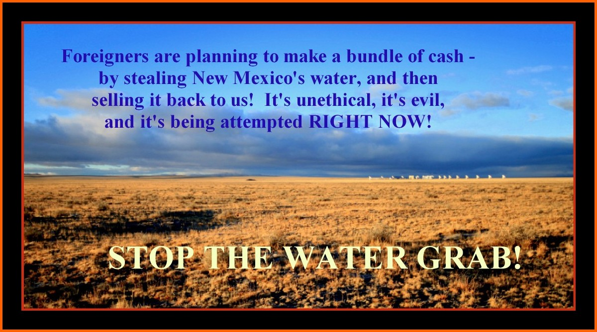 STOP THE WATER GRAB