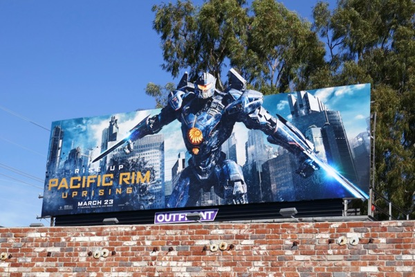 Gipsy Avenger Pacific Rim Uprising movie billboard