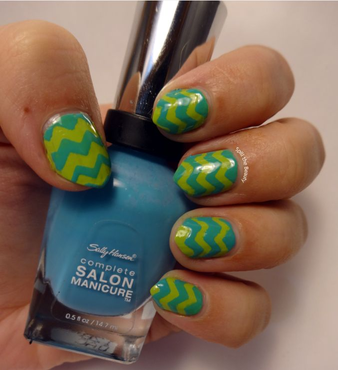 #ManiMonday:  Bright Zig-Zag