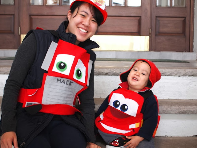 DIY Mac and Lightening McQueen Halloween Costume