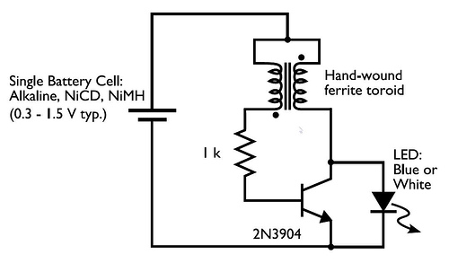 battery flashlight wiring