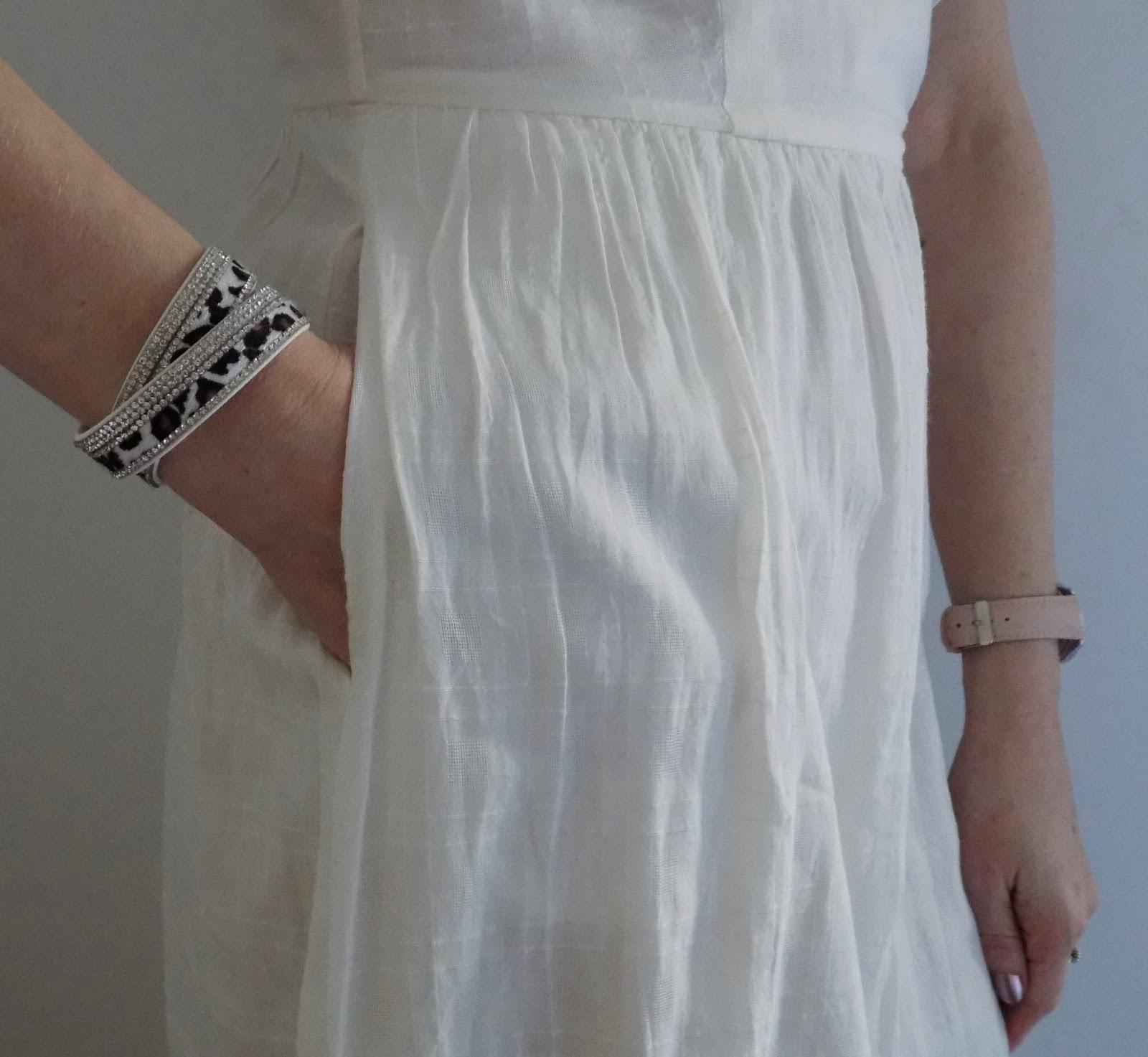 White leopard print wrap bracelet