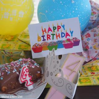 Geburtstagstisch 4. Geburtstag. Geburtstagsgeschenke