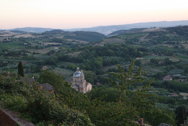 The temple of San Biagio seen from Montepulciano's town walls