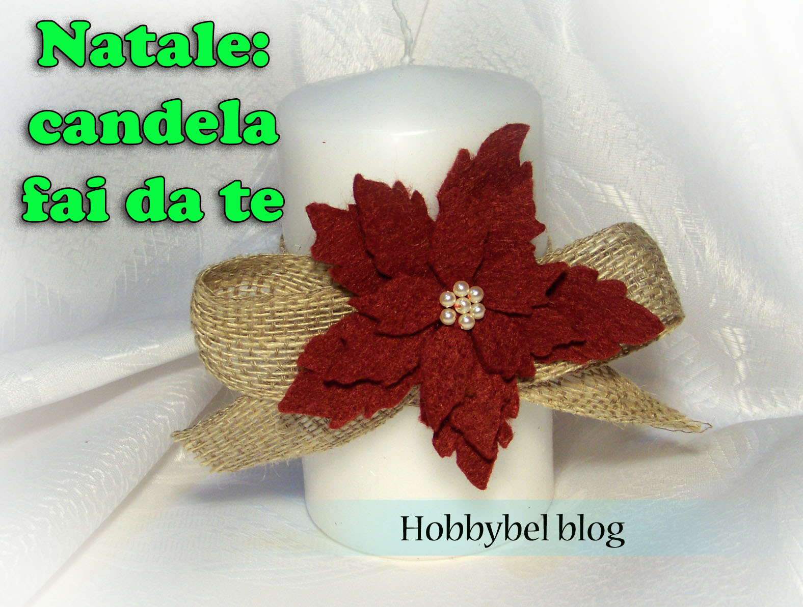Candela con decorazione stella di natale in feltro for Youtube decorazioni natalizie
