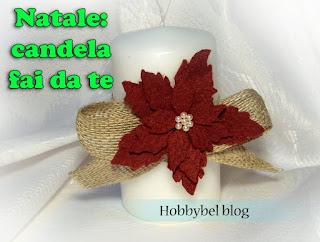 Candela Con Decorazione Stella Di Natale In Feltro Hobbybel Creatività