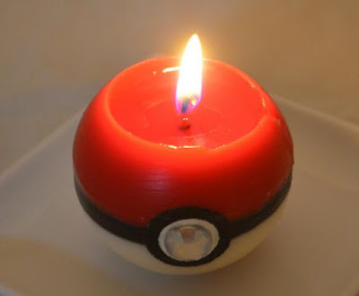 Pokeball Candle