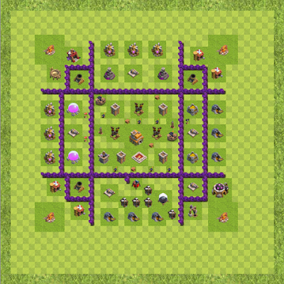 War Base Town Hall Level 7 By esno_je (1112312 TH 7 Layout)