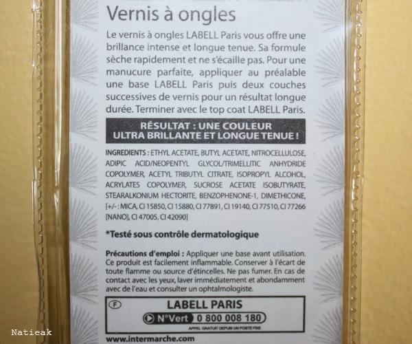 composition Vernis à ongles vert foncé Carnaval  Brazilien Mambo de Labell (Intermarché)