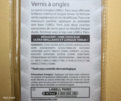 composition Vernis à ongles vert foncé Carnaval