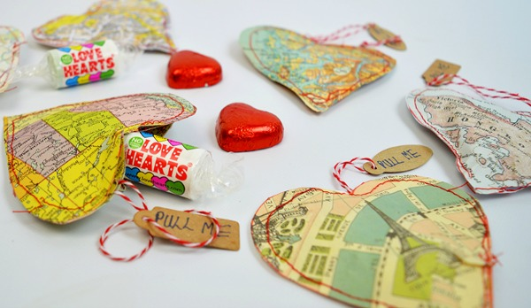 Personalized Treat Map Hearts from Pillar Box Blue