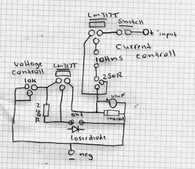 component layout for LM317 power supply circuit