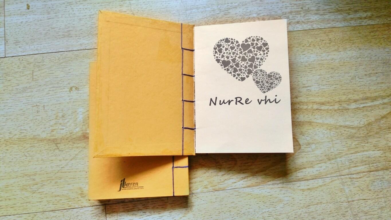 Cover dalam notebook handmade NurRe vhi by JL KEREN CREATIVE
