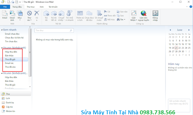Cấu hình windows live mail 2012 - H11