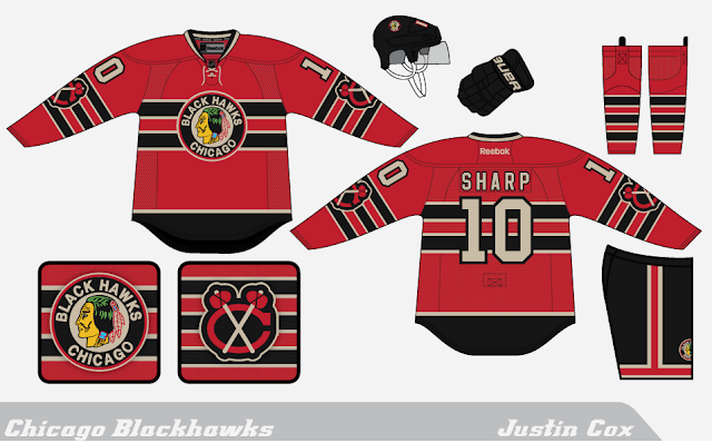 purchase cheap c5a51 5f35c The Art of Hockey: Chicago Blackhawks: A Red Retro
