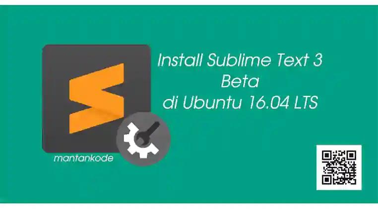 Cara install sublimetext 3 beta di ubuntu