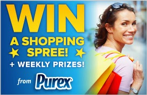 Like Purex and Win More Time for Mom button
